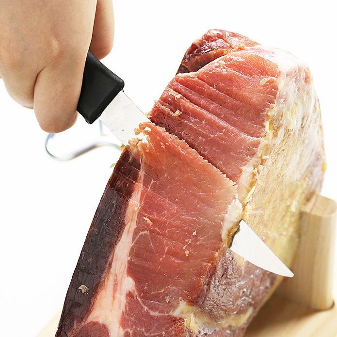 スペイン産 ミニ・ハモン 生ハム 1kg 台座・ナイフ付き(冷蔵発送)