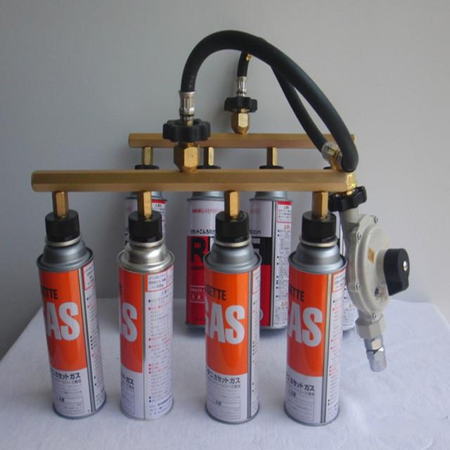 ガスグリル用 カセットガスアダプター 4本タイプ
