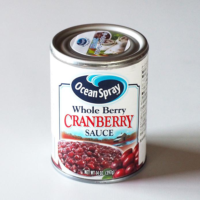 【次回9月頃入荷予定】クランベリーソース (つるこけももの缶詰)397g