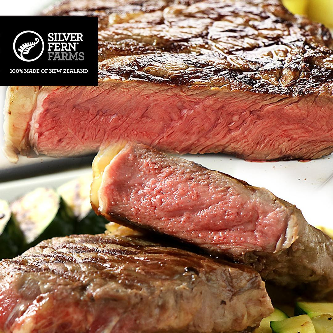 ニュージーランド産 ステーキ 2枚セット (サーロインとリブロースのステーキ食べ比べセット)