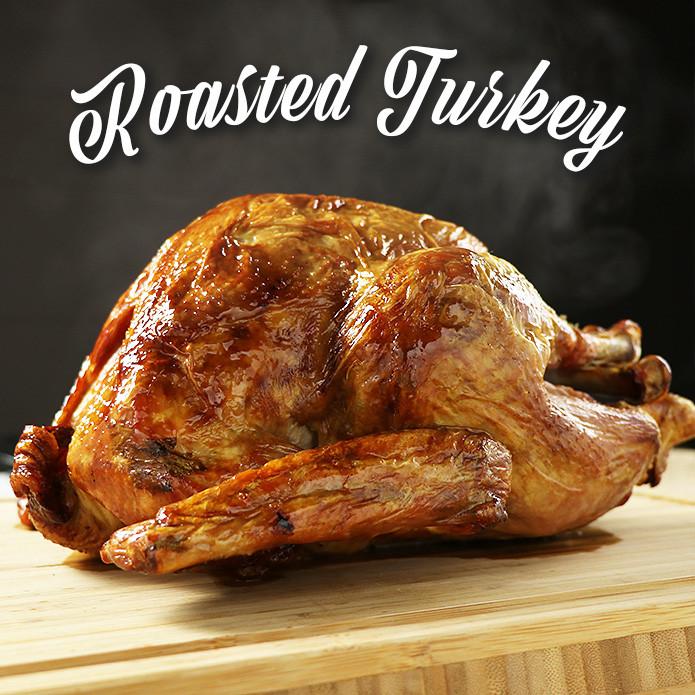 【次回11月入荷予定】数量限定!調理済み ローストターキー 約1.8kg-2kg (4-6人前) グレイビーソース付