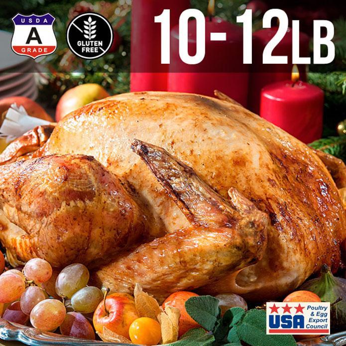 【送料無料】アメリカ産 七面鳥 ターキー 丸 10-12ポンド 約5kg  10-12人用