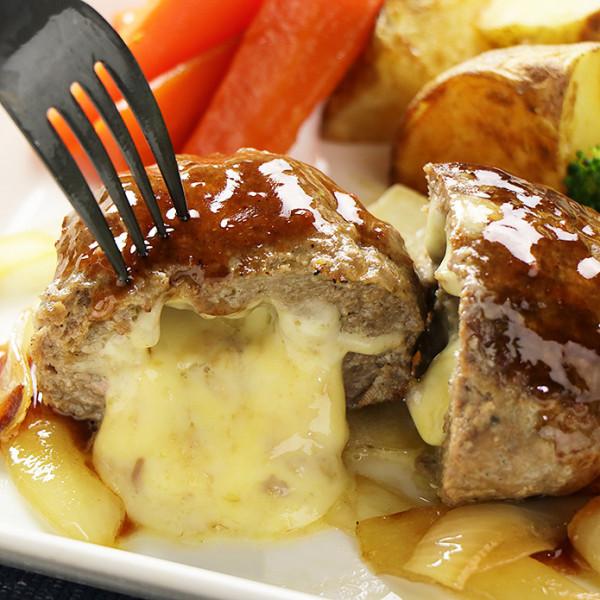 チーズ in ハンバーグステーキ 150g×2個 グラスフェッドビーフ使用