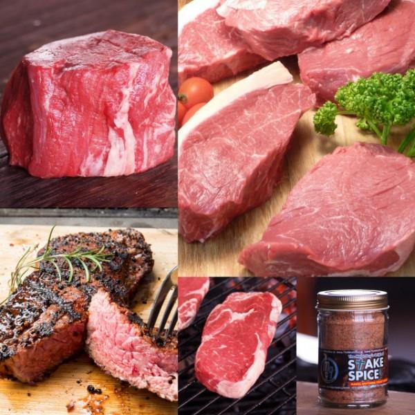 グラスフェッドビーフ 4種類8枚ステーキお試しセット(スパイス付き)