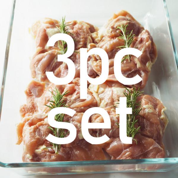 【送料無料】【国産銘柄鶏】錦爽どりの骨なしモモ肉 (きんそうどり) 1kg × 3パックセット