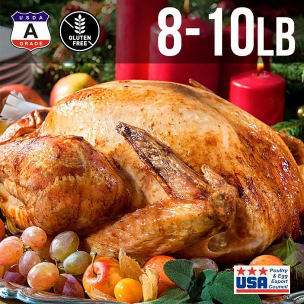 【送料無料】アメリカ産 七面鳥 ターキー 丸 8-10ポンド 約4kg 8-10人用