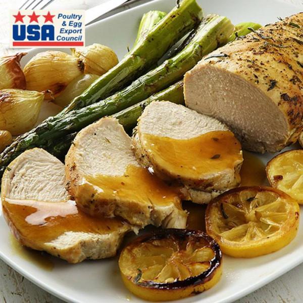 【次回10月頃入荷予定】アメリカ産 ターキーブレスト (七面鳥のムネ肉) 約700g