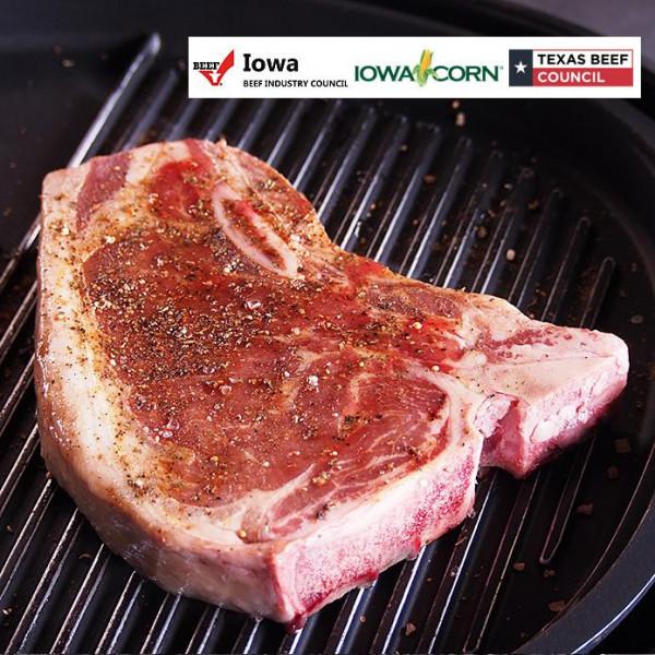 USDAチョイス 骨付サーロインステーキ 450g / Lボーンステーキ