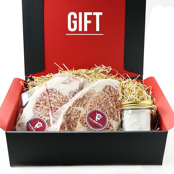 (Free Shipping!) Premium Wagyu Steak and Italian Sea Salt  Set