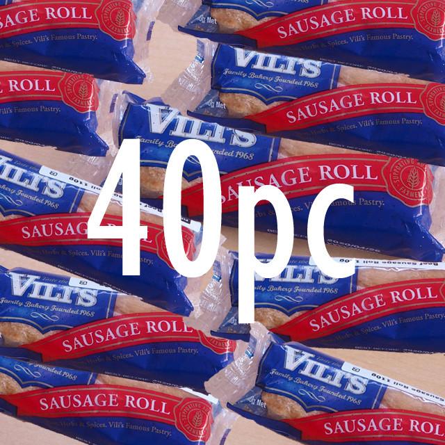 New & Exclusive! Vili's Imported Original Australian Sausage Roll  40pc Case