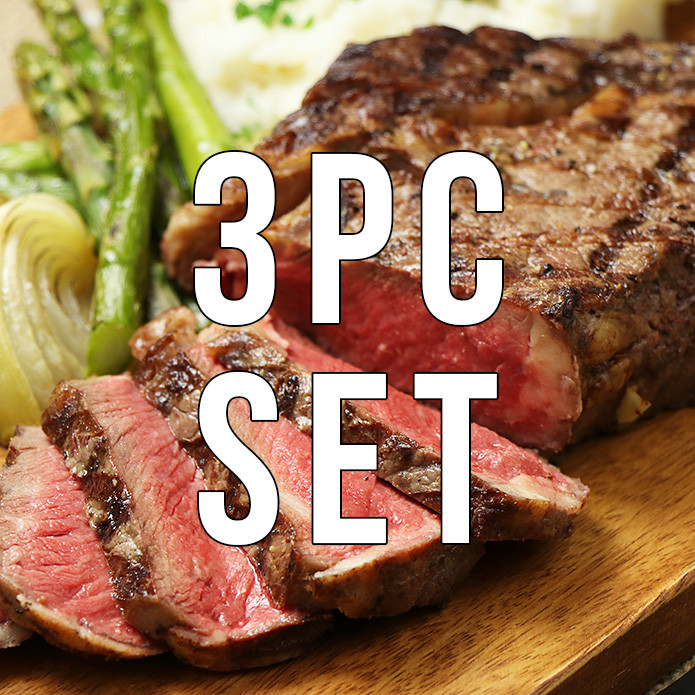 【free shipping】One Pound Ribeye Steak (Over 450g!) 3 Piece Set! Steak Spice Included!