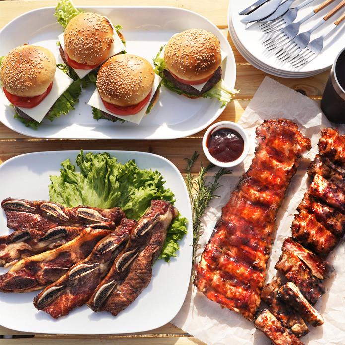 American BBQ Set! 2kg (Feeds 4-6 People)
