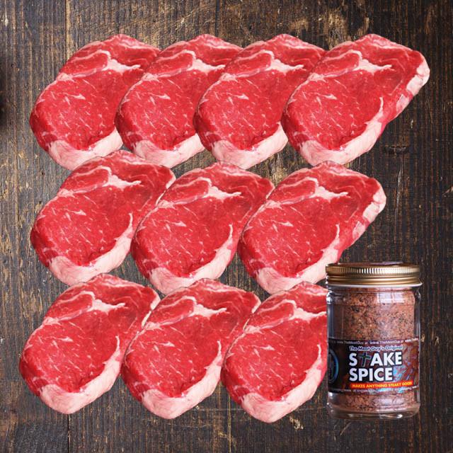 (Free Shipping) Ribeye Beef Steaks (10x270g) + Steak Spice Jar!