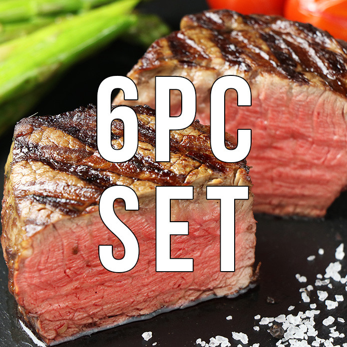 (Free Shipping) 6 Filet Mignon Steaks (250g x 6pc)