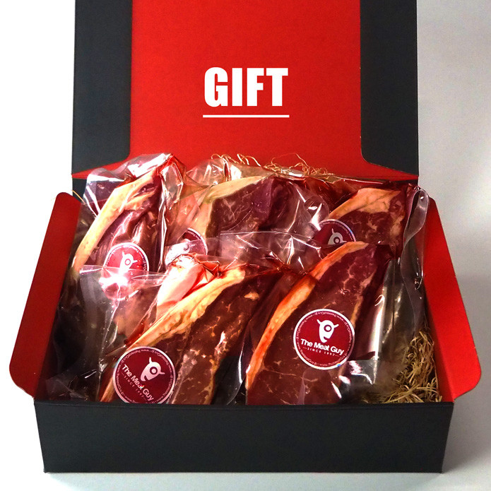 (Free Shipping) Strip Steak of New Zealand Beef (270gX 5PC) Gift Box Value Set!