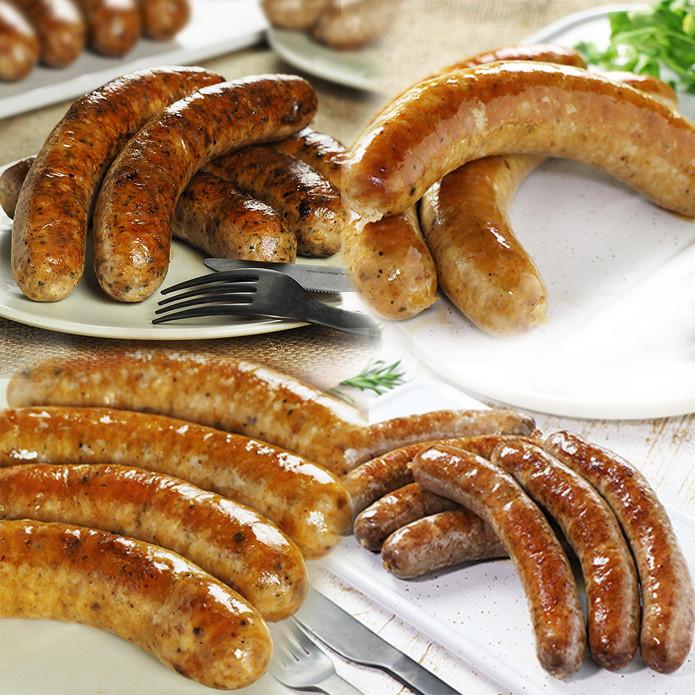 (Free Shipping) Original Sausage Variety Set (More than 14 Sausages!)