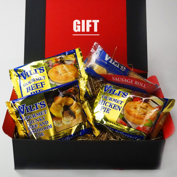FREE SHIPPING Best of Vili's Meat Pie Sampler Gift Box Set (3 Meat Pies + 1 Sausage Roll) Value Set
