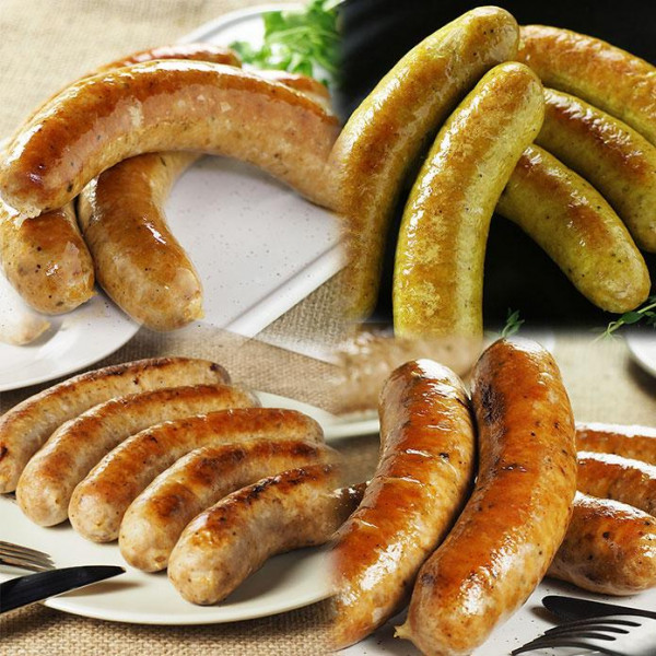 (Free Shipping) Original Sausage Variety Set (More than 14 Sausages!)
