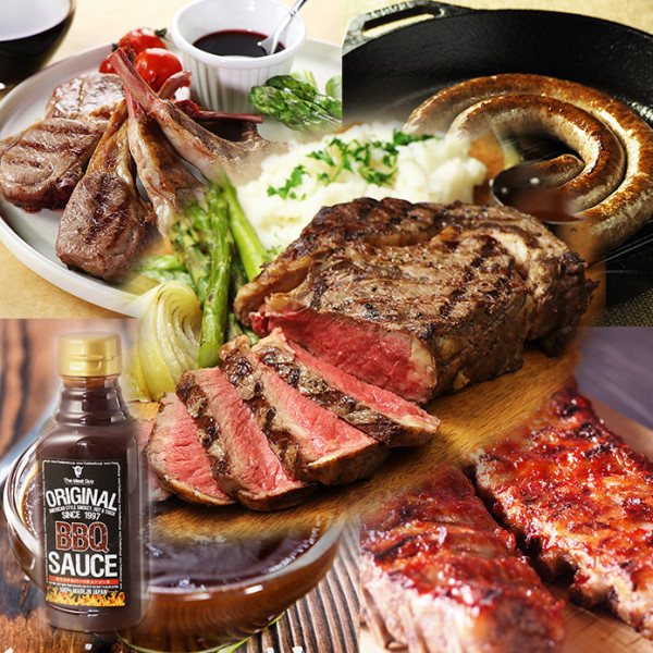 (Free Shipping) 1 POUND STEAK BBQ VALUE SET FOR 5-7 PEOPLE (APPROX 2.86KG)