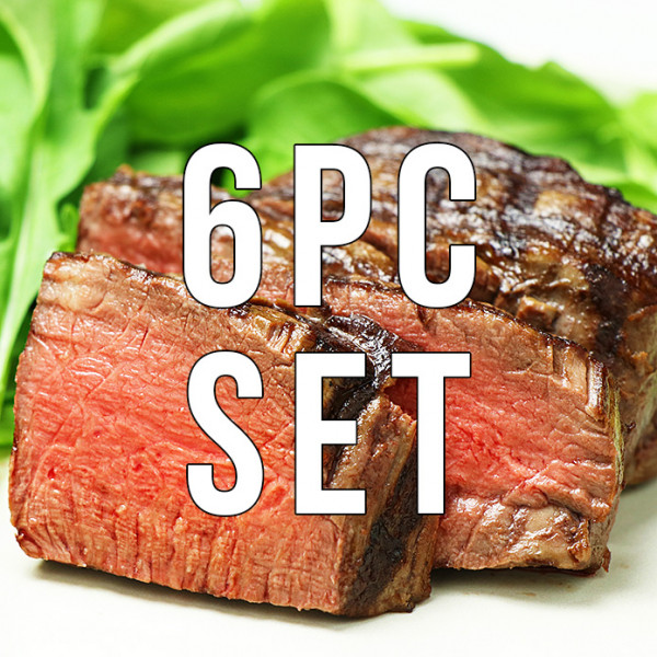(Free shipping) 6 Filet Mignon Steaks (180g x 6pc)