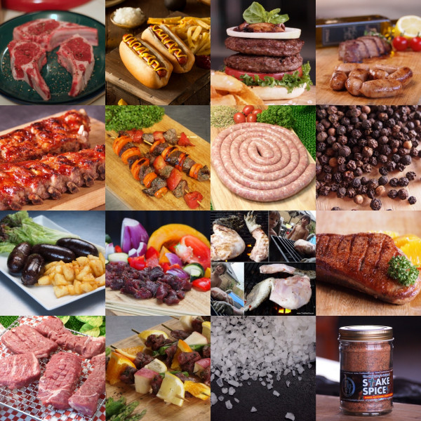 (Free shipping) Exotic Meat Value Set for the Wild BBQ Experience (10-15 People)