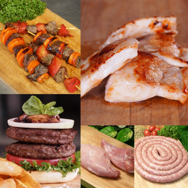 (Free Shipping) Exotic Meat BBQ Starter Set (4-8 People)