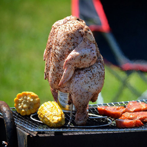 Beer Can Chicken Set! Domestic and local-raised 2kg Chicken and a Beer Can Holder Serves 4!
