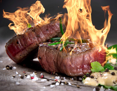 分厚いステーキの焼き方