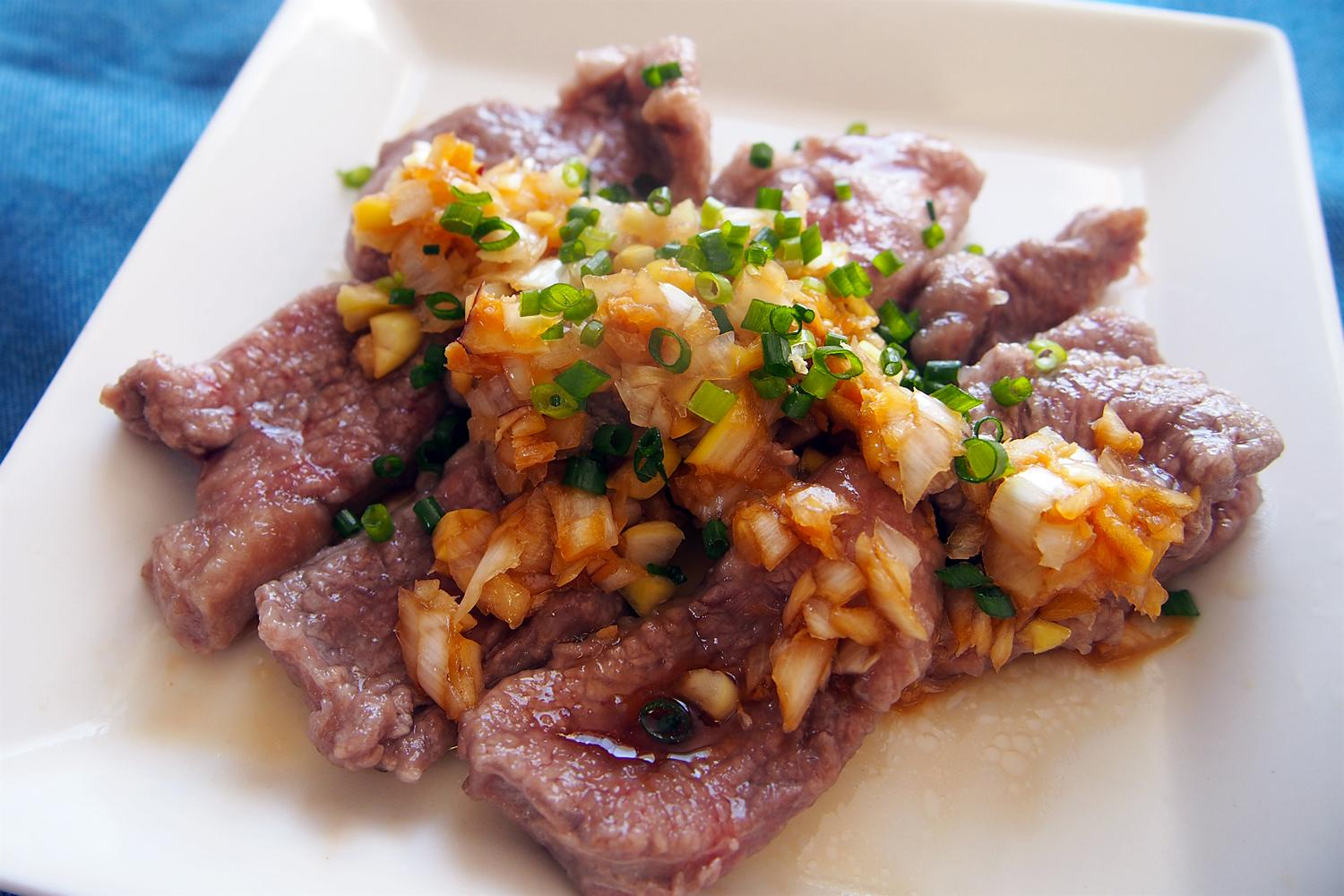 BOILED LAMB WITH GINGER SAUCE