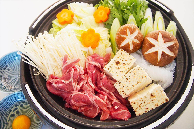 羊肉で関西風すき焼き