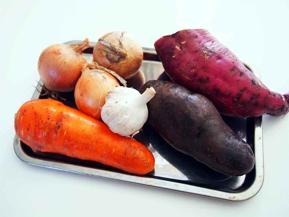 チキンの丸焼き 野菜